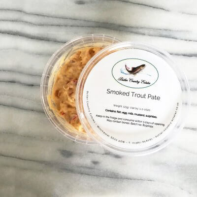 Smoked trout pate pot
