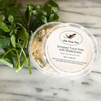 Smoked trout pate with watercress pot