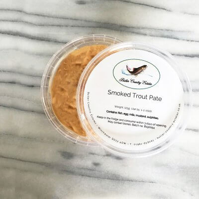 Smoked trout pate.
