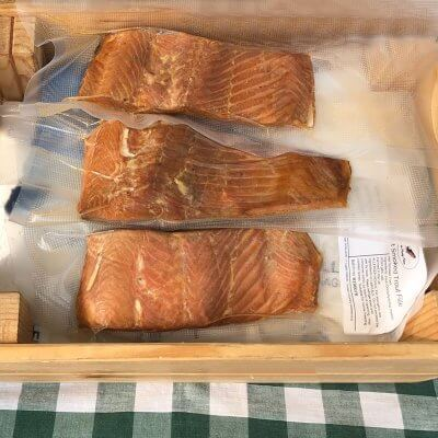Smoked Hampshire trout fillets