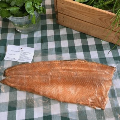 Smoked trout side fillet