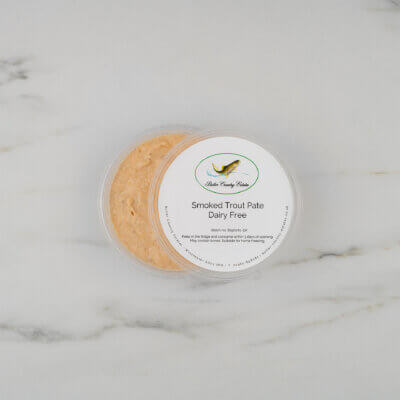 Dairy free smoked trout pate.