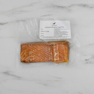 Hampshire smoked trout fillet.